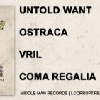 Untold Want / Ostraca / Vril / Coma Regalia split record